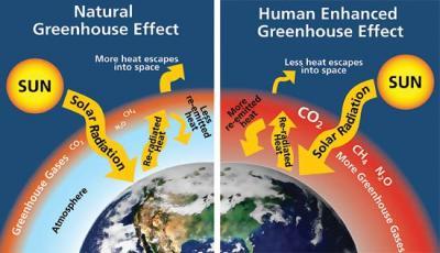 انواع گازهای گلخانه ای